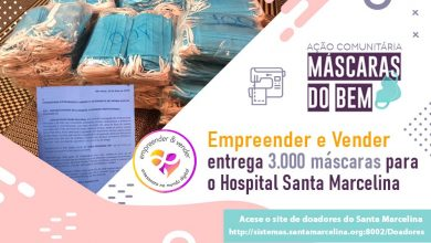 Photo of Empreender e Vender entrega 3 mil máscaras para o Hospital Santa Marcelina